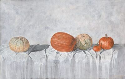 Andres Dominguez, 'Pumpkins on Tablecloth', 2013