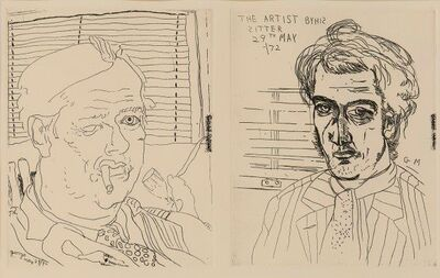 Barry Flanagan, 'George Melly and the Artist By His Sitter', 1972