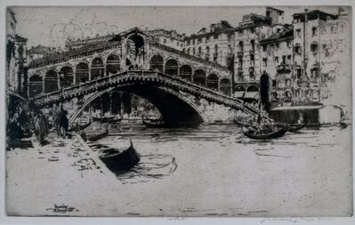 Jan Vondrous, 'Rialto Bridge, Venice', 1914