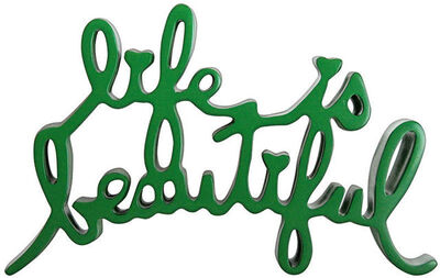 Mr. Brainwash, 'Life Is Beautiful Sculpture (Green)', 2013