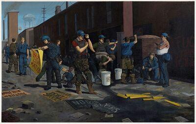 Sandow Birk, 'Standing Down (Ferguson)', 2016