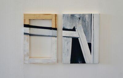 Louisa Marajo, 'Tréteaux (dyptic)', 2017