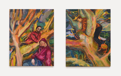 Rebecca Harper, ''Family Tree (Repetition rooted in that earlier grief)', (diptych)', ca. 2020