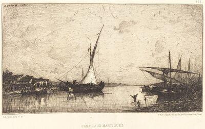 Adolphe Appian, 'Canal aux Martiques'