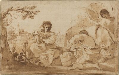 Guercino, 'The Rest on the Flight into Egypt', ca. 1626