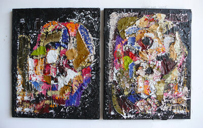 Harold Klunder, 'Cubist Song Book (diptych)'