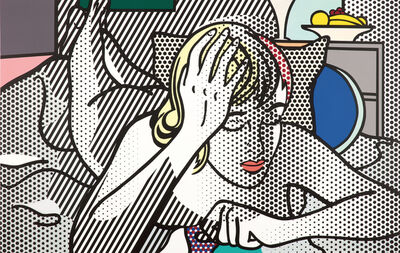 Roy Lichtenstein, 'Thinking Nude', 1994