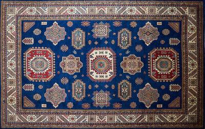 Uzbek Kazak, 'Room-sized wool rug'