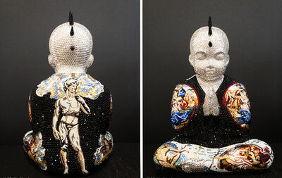 """Metis Atash, 'PUNKBUDDHA Large """"HEAD IN THE CLOUDS"""" feat. Michelangelo', 2019"""