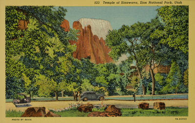 Deseret News, 'Temple of Sinawava, Zion National Park, Utah', ca. 1940
