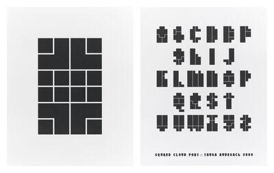 Tauba Auerbach, 'Square Cloud Type specimen poster', 2009