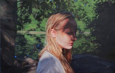 Laura Sanders, 'By Herself, Olentangy River', 2018