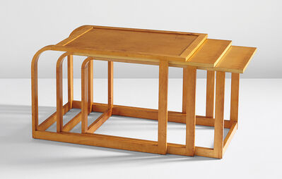 """Pipsan Saarinen Swanson, 'Rare complete set of three nesting tables, from the """"Flexible Home Arrangements"""" line', ca. 1940"""