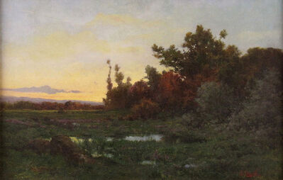 Jules Dupré, 'Clearing at Sunset', ca. 1870