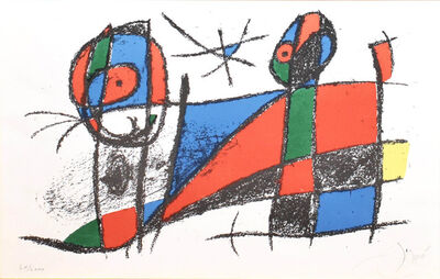Joan Miró, 'Miro Lithographe II, Plate VII', 1975