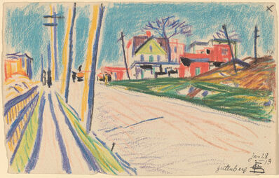 Oscar Bluemner, 'Street in the Bronx', 1913