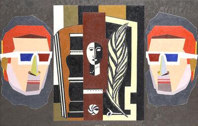 Eduardo Arroyo, 'Dos Anonimos Observan Un Cuadro De Fernand Leger', 2006
