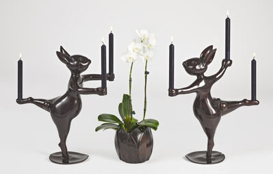 Hubert Le Gall, 'Giselle (Right) et Albrecht (Left) Candle Holders', 2020