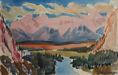Charles Hopkinson, 'The Bow River near Banff', 1938