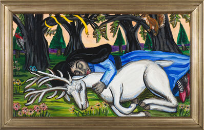 Mary Josephson, 'Blue Fairy, White Stag', 2019