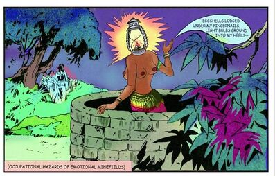 Chitra Ganesh, 'Lantern Head', 2013
