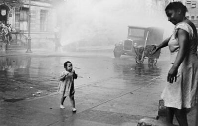 Helen Levitt, 'New York (child in hydrant spray)', ca. 1942
