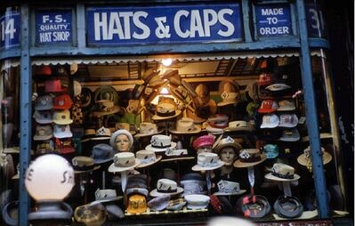 Ruth Orkin, 'Hats and Caps, NYC', 1947