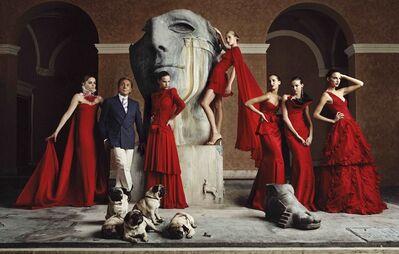 Lorenzo Agius, 'Valentino with models', 2007