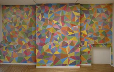 Sol LeWitt, 'Wall Drawing No. 652, Continuous Forms with Color Acrylic Washes Superimposed', 1990
