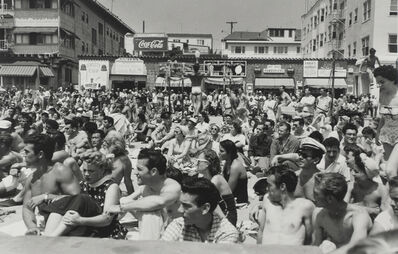 Larry Silver, 'Watching a Contest, Muscle Beach Santa Monica, CA', 1954