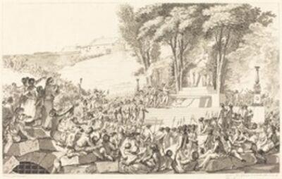 Antoine-Jean Duclos, 'La Fontaine de la Regeneration sur les debris de la Bastille, le 10 avril 1793', probably 1794