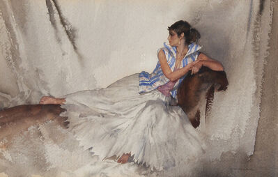 William Russell Flint, 'Girl Reclining', 1900-1950
