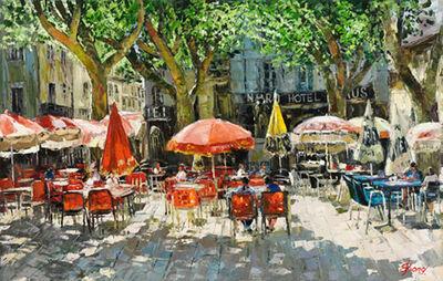 Elena Bond, 'Cafe at Arles'