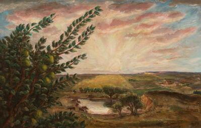 John Steuart Curry, 'Morning II (Sunrise Over Kansas) ', 1941
