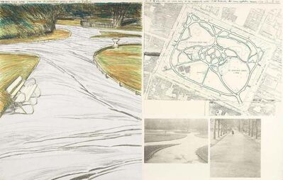 Christo, 'Wrapped Walk Ways (Project for St. Stephen's Green Park in Dublin)', 1983