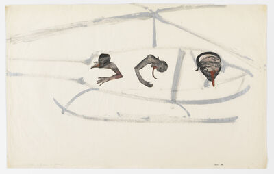 Nancy Spero, 'Gunship, Pilot, and Victims', 1968