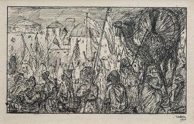 Alfred Kubin, 'Procession in Morocco', 1910