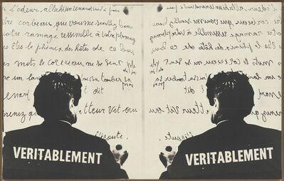 Marcel Broodthaers, 'Véritablement (Truly)', 1968