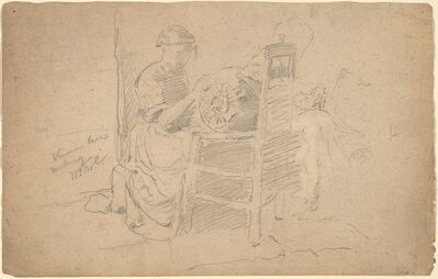 William Merritt Chase, 'Venetian Lace Making'