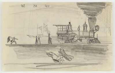 Lyonel Feininger, 'Locomotive', 1940
