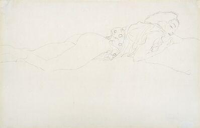 Gustav Klimt, 'Female Semi-Nude Lying on Stomach, Facing Right', 1905-1906