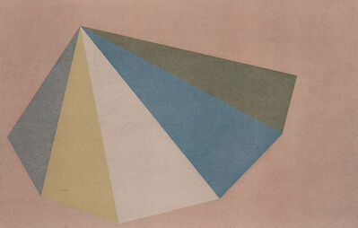 Sol LeWitt, 'Plate Four, from the suite Pyramids', 1987