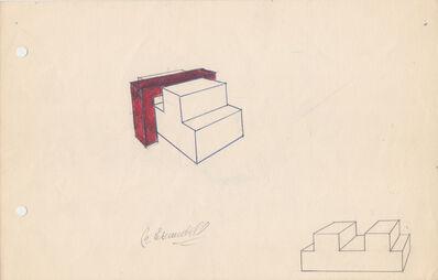 Noemi Escandell, 'Boceto para Estructura variable con escalones y volumen rojo', 1966