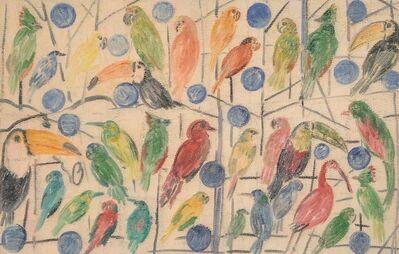 Hunt Slonem, 'Ibis & Toroucos', 2002