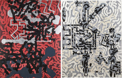 Barry Le Va, 'Sculptured Activities (diptych)', 1987-89