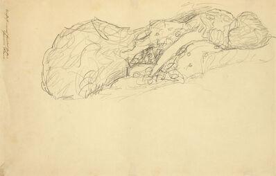 Gustav Klimt, 'Reclining Woman to the right ', 1916