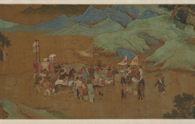 Qiu Ying, 'Tribute Bearers (detail)', Ming Dynasty (1368, 1644), China, 1500s