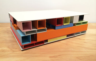 Tilman, '31.08 Untitled (House of Colors), 2008, Enamel on aluminum, 16.5 x 11.75 x 5 inches, #T46', 2008