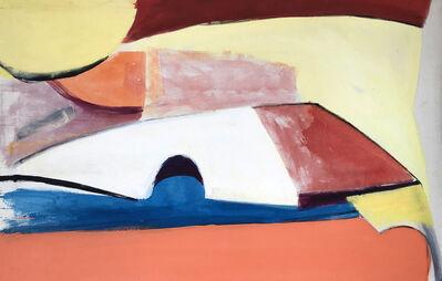 Louis Ribak, 'Blue and Peach Abstract', 1960-1969