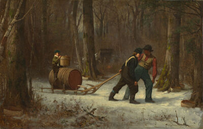 Eastman Johnson, 'On Their Way to Camp', 1873